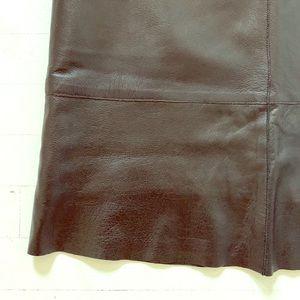{vintage} leather a-line skirt